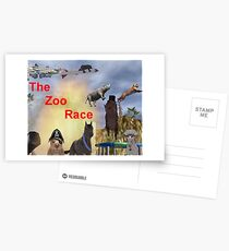 The Zoo Race Rides Postcards