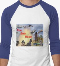 The Zoo Race Rides Men's Baseball ¾ T-Shirt