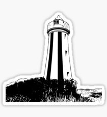 Lighthouse Overlooking the Water Sticker