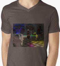 The Zoo Race dance floor Men's V-Neck T-Shirt