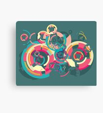 Vector colorful broken circle pattern Canvas Print
