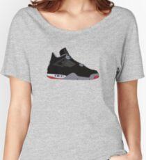 """Air Jordan IV (4) """"Bred"""" Women's Relaxed Fit T-Shirt"""