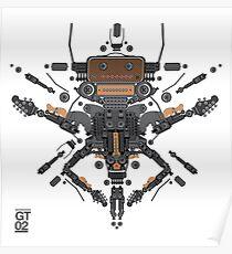 guitar robot character design Poster