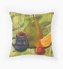 Fruit Still Life Painting Throw Pillow