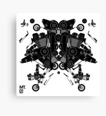 black motorbike robot 1 Canvas Print