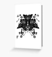black motorbike robot 1 Greeting Card