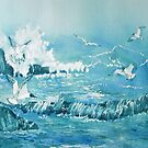 Wild Waves and Gulls by Glenn Marshall