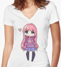 LDShadowlady Women's Fitted V-Neck T-Shirt