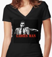 Ted Bundy Is A Ladies Man Women's Fitted V-Neck T-Shirt