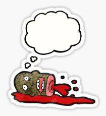cartoon gross severed head Sticker