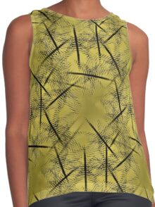 Squiggles And Lines In Gold And Brown Design Contrast Tank