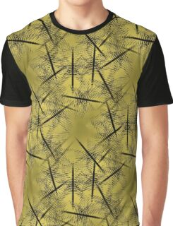 Squiggles And Lines In Gold And Brown Design Graphic T-Shirt