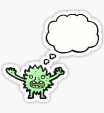 cartoon furry green monster Sticker