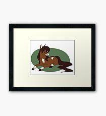 Lazy Day Pony Framed Print