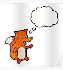 cartoon sly fox Poster