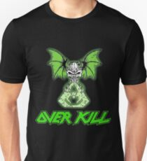 Overkill skull bat green  T-Shirt