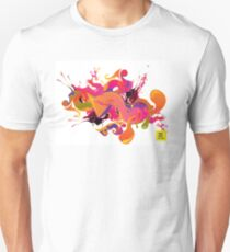 artistic Background of paint vibrant colors T-Shirt