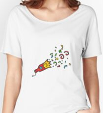 cartoon party popper Women's Relaxed Fit T-Shirt