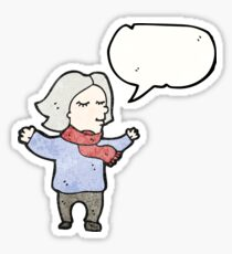 middle aged woman cartoon Sticker