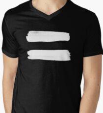 Equality Paint White Men's V-Neck T-Shirt
