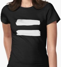 Equality Paint White Women's Fitted T-Shirt