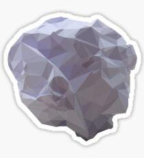 Polygon Paper Meteorite Sticker