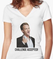 Barney Challenge Women's Fitted V-Neck T-Shirt