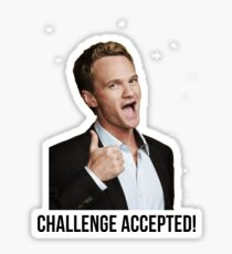 Barney Challenge Sticker