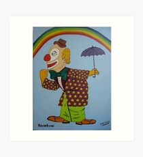 Rainbow the Clown - John Wayne Gacy Art Print