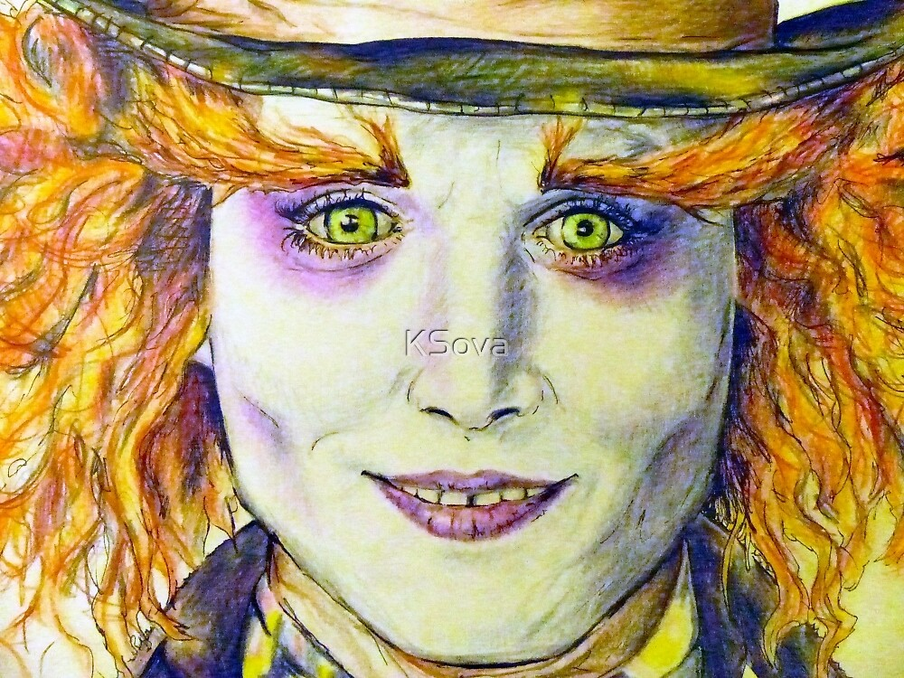 Mad Hatter Close Up By Ksova Redbubble