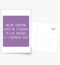 Online Shopping Postcards
