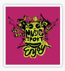 enjoy sport and music Sticker