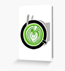 Matcha Barista Greeting Card