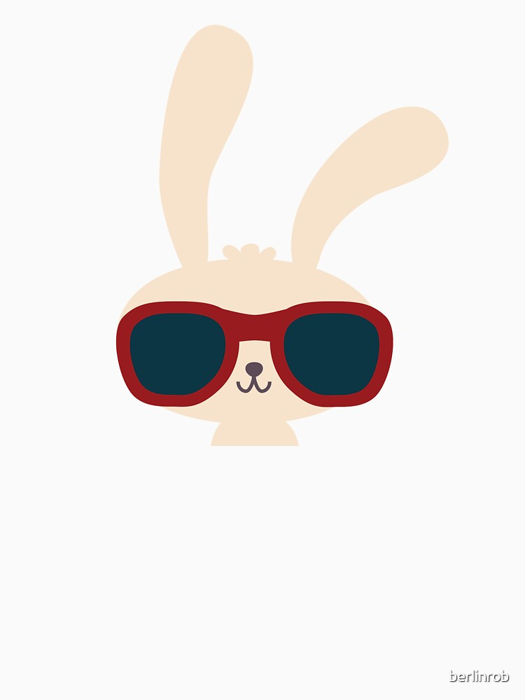 """Cute easter bunny with sunglasses"" T-shirt by berlinrob ..."