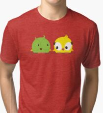 Two cute birds in love Tri-blend T-Shirt