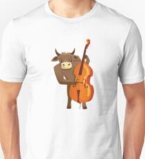 Funny ox playing music with cello Unisex T-Shirt