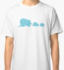 Elephant family following each other Classic T-Shirt