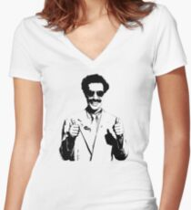 Borat Women's Fitted V-Neck T-Shirt