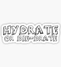Hyrdate or Die-drate  Sticker