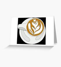 Barista Latte Greeting Card