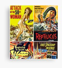 Sci-Fi Movie Poster Collection #10 Canvas Print