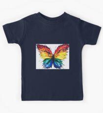 Vibrant Butterfly Colour Splash Kids Tee