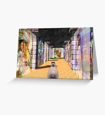 The Glass Maze Greeting Card