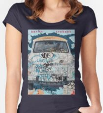 Berlin Trabant Car On The Berlin Wall Women's Fitted Scoop T-Shirt