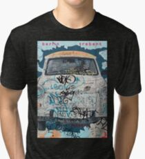 Berlin Trabant Car On The Berlin Wall Tri-blend T-Shirt