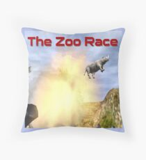 The Zoo Race Cannon Throw Pillow