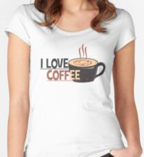 Love Coffee Women's Fitted Scoop T-Shirt