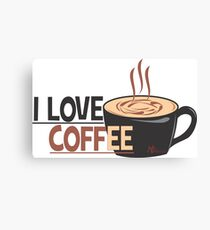 Love Coffee Canvas Print