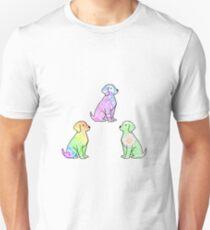 Tie Dye Cute Puppies Pack 2 Unisex T-Shirt