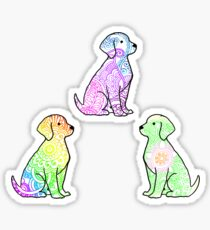 Tie Dye Cute Puppies Pack 2 Sticker